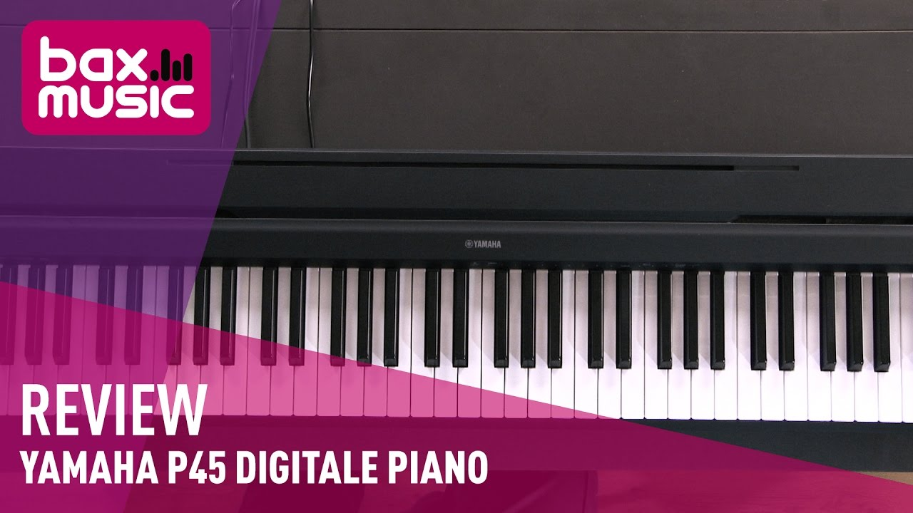 yamaha p45 digitale piano review youtube. Black Bedroom Furniture Sets. Home Design Ideas