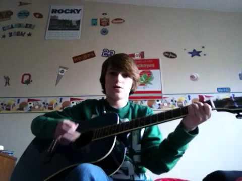 Chandler Letner playing trust in Jesus on guitar