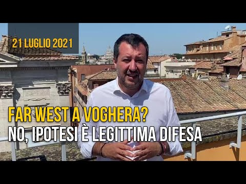 Salvini: a Voghera nessun Far West, ipotesi legittima difesa
