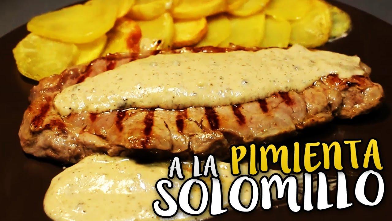 Como Cocinar El Solomillo | Solomillo A La Pimienta Como Hacer Solomillo En Salsa Youtube