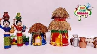 How to make hut from coconut shell |From Coconut Shell | hut from coconut shell | arush craft ideas