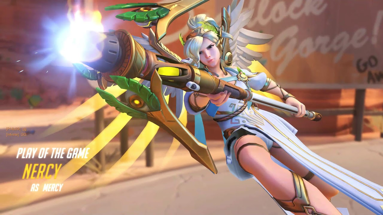 Winged victory mercy reverse cowgirl overwatch blender animation wsound