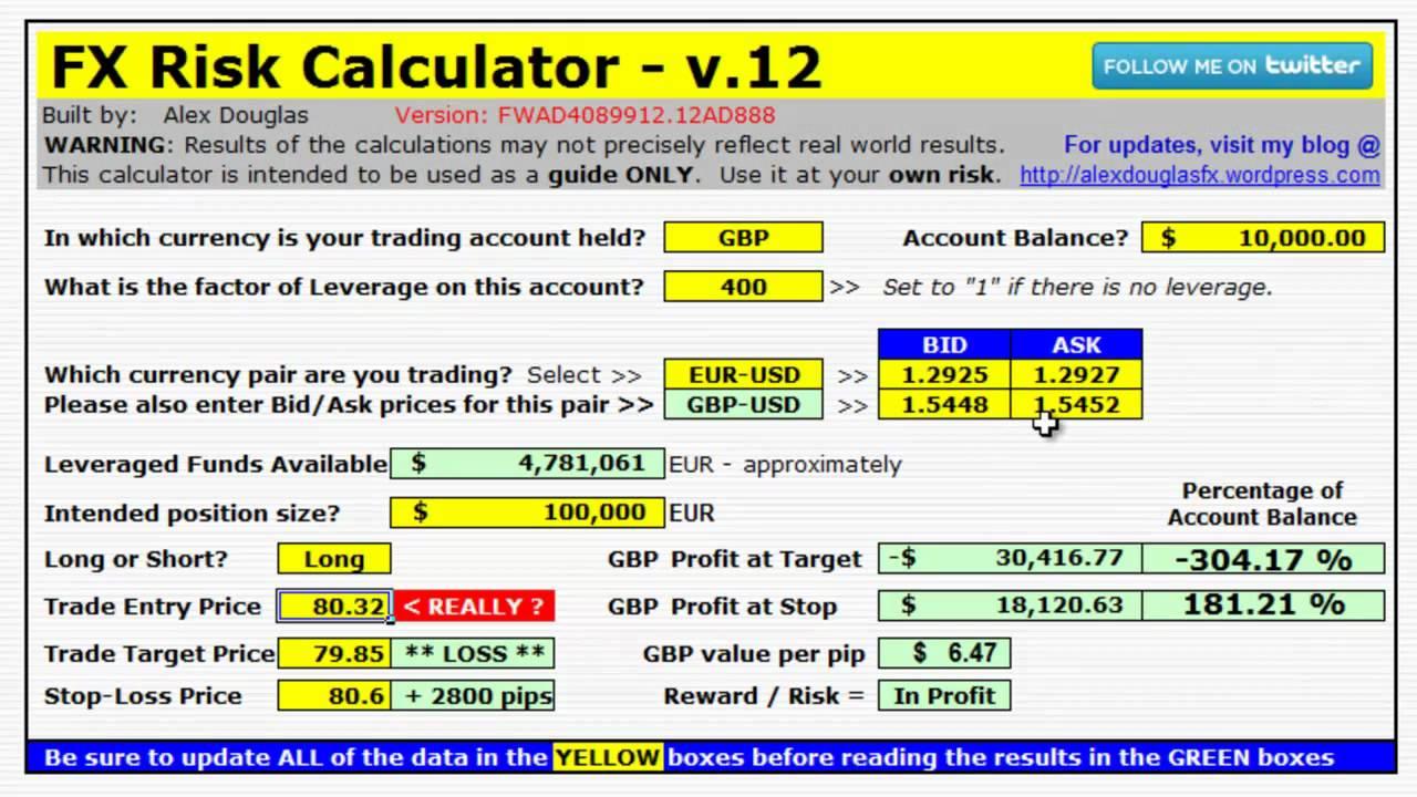 Forex risk calculator