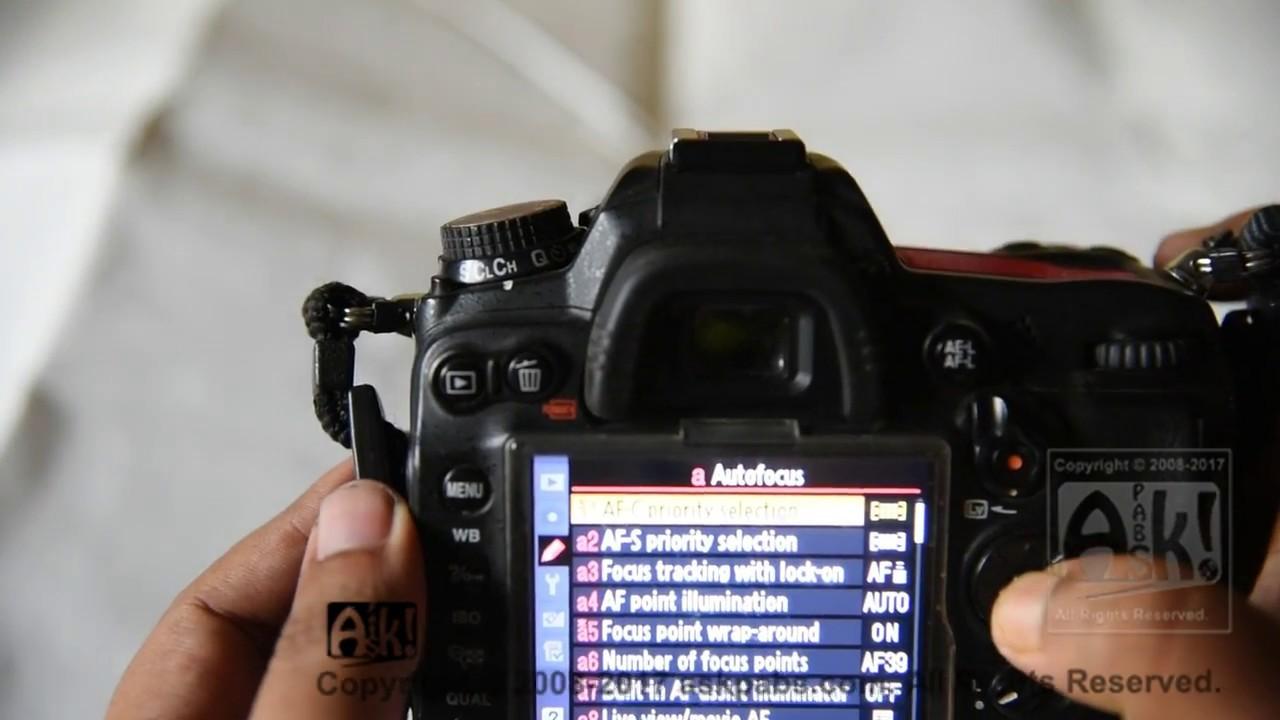Nikon d7000 focus problem solved