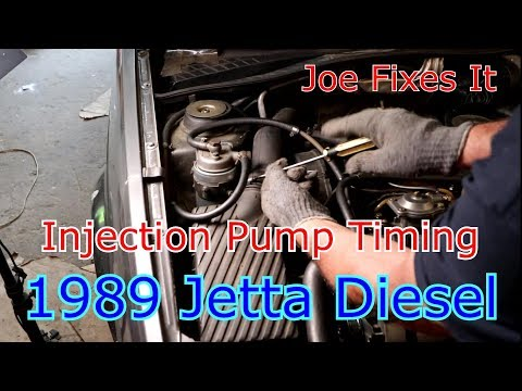 Diesel Injection Timing and Valve Timing 1989 Turbo Diesel Jetta mk2 Joe Fixes It