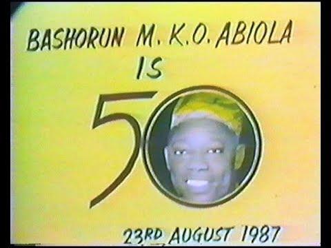 FLASHBACK! Video of MKO Abiola's Last Major Birthday Bash @ 50 (August 24th, 1987)