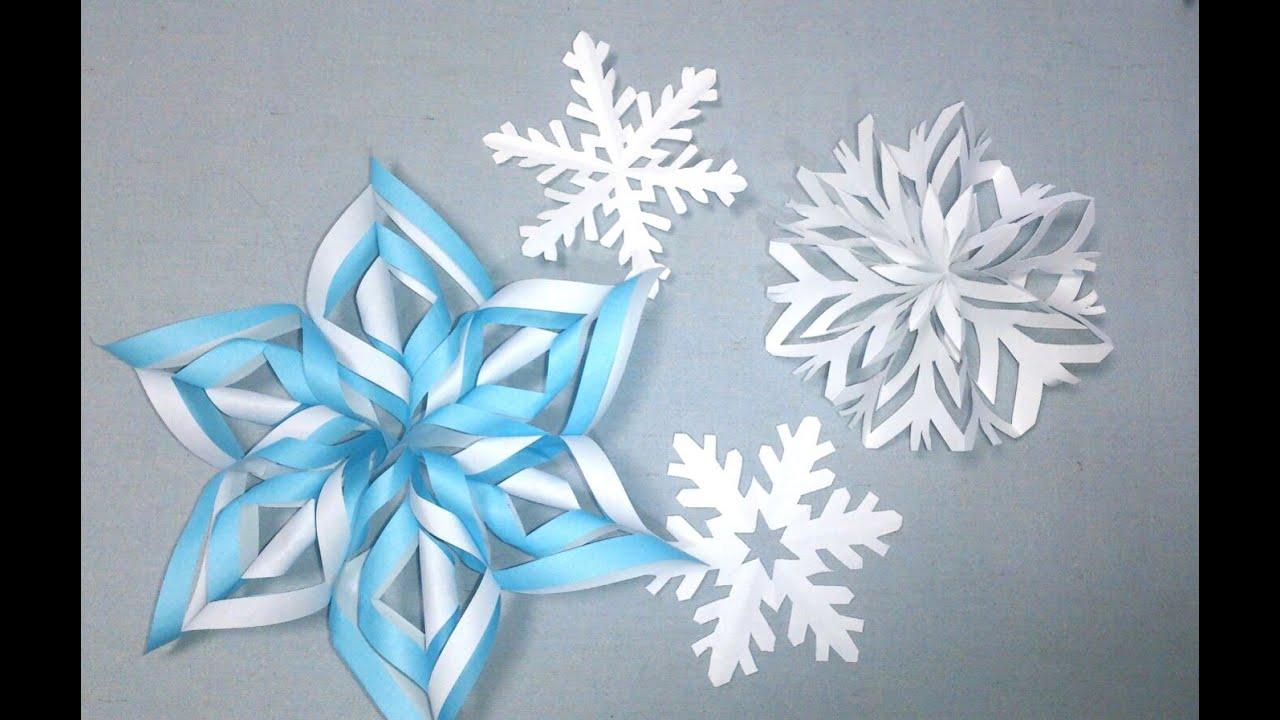 雪の結晶の作り方 3種類