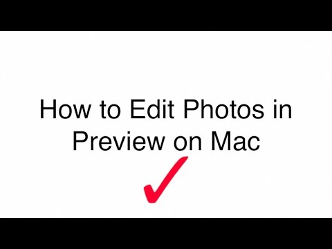 How to Edit Photos in Preview 2017 (Mac)