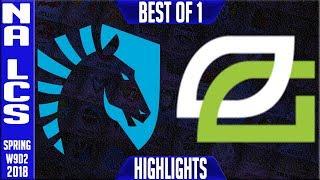 TL vs OPT Highlights | NA LCS Week 9 Spring 2018 W9D2 | Team Liquid vs Optic Gaming Highlights|