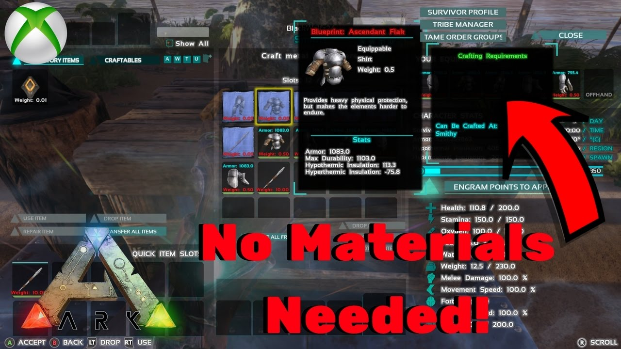 Craft ascendant blueprints without materials glitch ark survival craft ascendant blueprints without materials glitch ark survival evolved dedicated glitch malvernweather