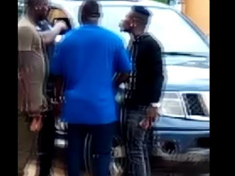 Shatta Wale exchanges words with police officer