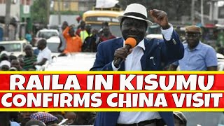 Raila Odinga Reception in Kisumu as he confirms China SGR Visit with Uhuru Kenyatta
