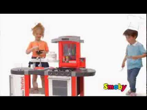 smoby cuisine tefal super chef kids roleplay childrens toy kitchen youtube. Black Bedroom Furniture Sets. Home Design Ideas