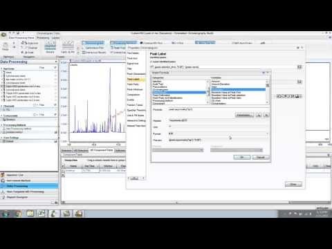 Data Processing in Chromeleon for GC MS Part 3