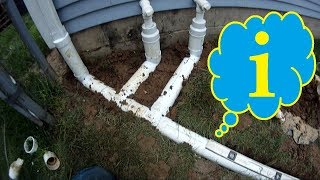 Pro TIPS on Gutter Downspout Drain INSTALLATION ~ GRAVITY downspout Drain tile Atlantic Drain
