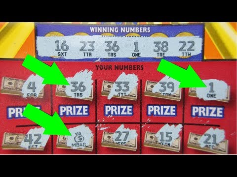 """NICE WINS!!..MATCHING NUMBERS AND """"MONEY BAGS""""!! LOTTERY TICKET PROFIT SESSION!!"""