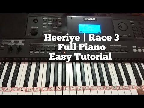 Heeriye Race 3 Full Piano Tutorial | Salman Khan | Jacqueline