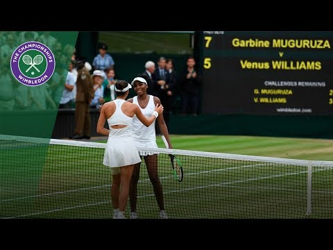 Garbiñe Muguruza v Venus Williams highlights - Wimbledon 2017 ladies' singles final