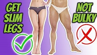 How to Slim Your Legs NOT BULK [2 min Leg Slimming Workout]