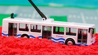 Мультфильм про Городской транспорт, Троллейбус Технопарк, Авария 283 Серия Мир Машинок