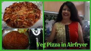 Veg Pizza In Airfryer  How To Make Pizza In Airfryer  Madhumita&#39s Real Life