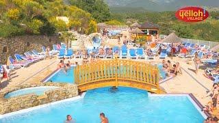 Zwemparadijs van camping Yelloh! Village Les Bois du Châtelas in Bourdeaux - Drôme - Platteland