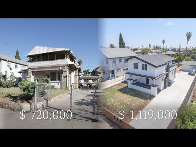 미국 LA- 못생긴 단독주택 3 UNIT 아파트로 변경 Before & After