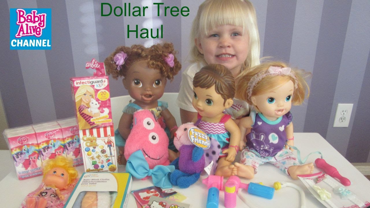 Baby Alive Doll Haul From Dollar Tree With Elsa By Baby