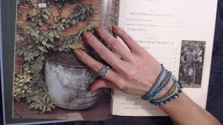 ASMR Whisper  Reading Garden Decoration Book