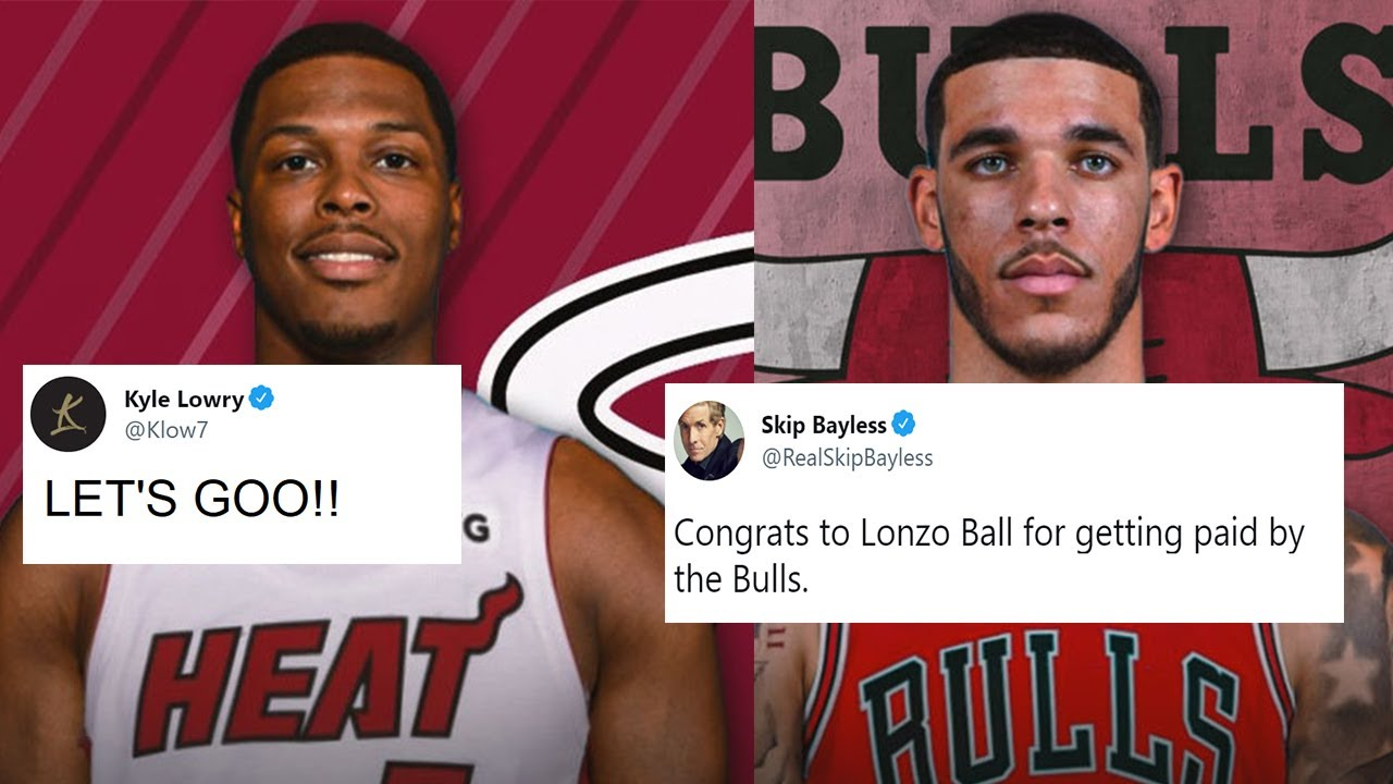 NBA PLAYERS REACTS TO DAY 1 OF FREE AGENCY 2021 (LOWRY TO THE HEAT, LONZO TO THE BULLS)