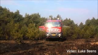Brand verwoest 9 hectare natuur op Ginkelse Heide Ede 06 03 2014