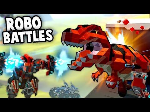 ROBOT DINOSAUR vs MECHS 100 player Battle Royale! (Robocraft Battle Royale Gameplay)
