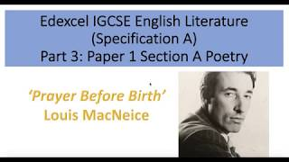 Analysis of 'Prayer Before Birth' by Louis MacNeice