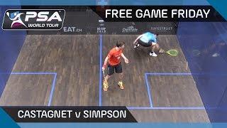 Squash: Free Game Friday - Castagnet v Simpson - Grasshopper Cup 2016