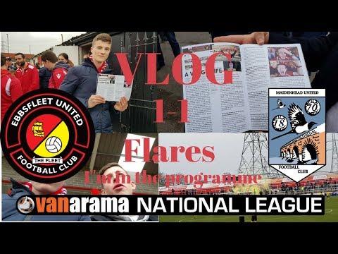 I'M IN THE PROGRAMME!FLARES! Ebbsfleet United vs Maidenhead united Vlog! 1-1!