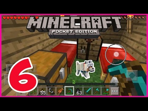 Minecraft PE - Gameplay Part #6 - Going CAMPING - Playing with FIRE - Let's Play and Commentary