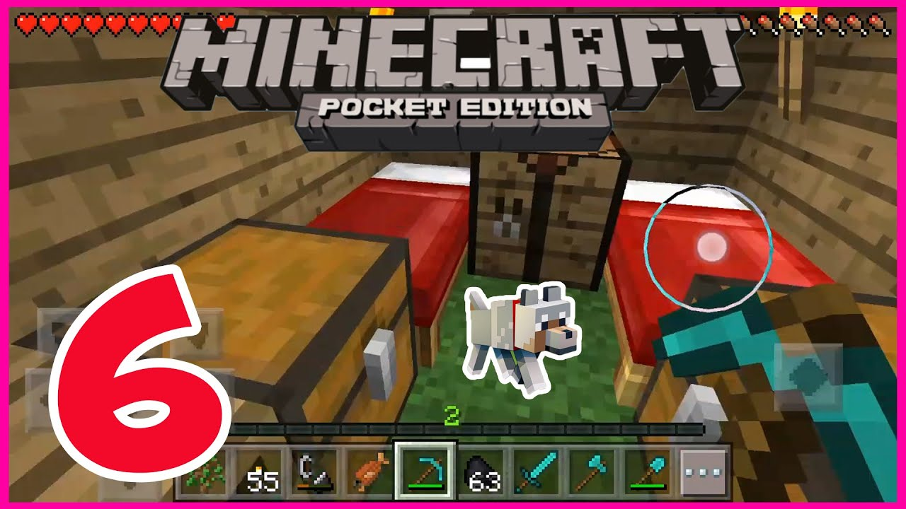 mine craft pe minecraft pe gameplay part 6 going camping 2454