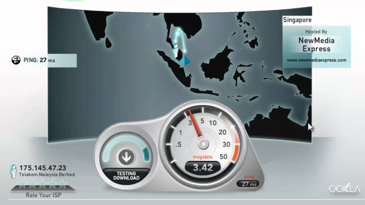 Streamyx Speed Test Stability Proven 4mbps Youtube