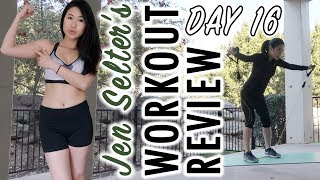 JEN SELTER CHALLENGE- Day 16 | Fitplan App | Workout Series Review | Weight Loss