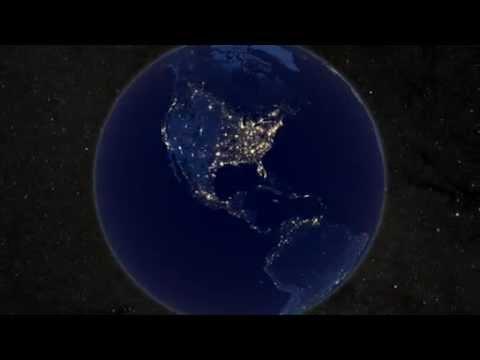 La Tierra De Noche Vista Desde El Espacio Asombroso Youtube
