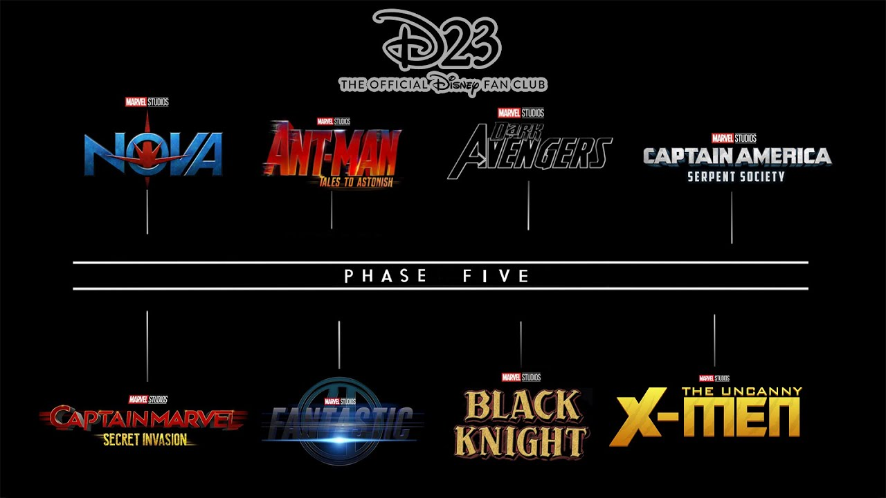 Download D23 OFFICIAL ANNOUNCEMENT | MARVEL PHASE 5 SLATE PREVIEW