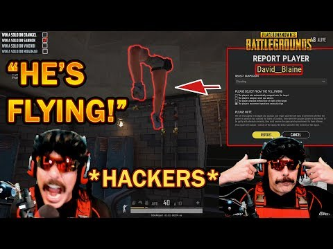 DrDisrespect REPORTS FLYING HACKERS & STREAM SNIPERS + Bans Chat In PUBG! (4/29/2019)
