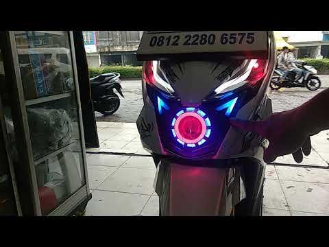 LAMPU ALIS 2 MODE HONDA BEAT ISS / ESP / STREET DAN PROJIE LED PNP , REQUEST MAS ANDIKA PUNYA