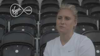 Watch Steph Houghton discuss how she uses the internet to improve her game | Vivid | Virgin Media
