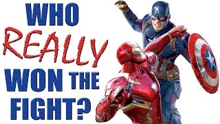 The fight between Ironman, Captain America and Bucky in Civil War, ...