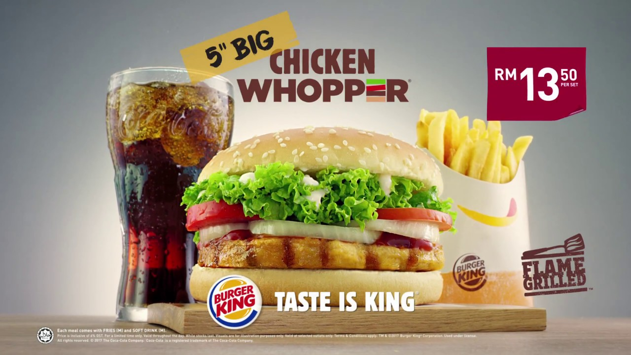 Burger King New Whopper Chicken