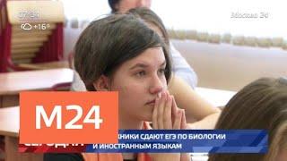 Выпускники сдают ЕГЭ по биологии и иностранным языкам - Москва 24