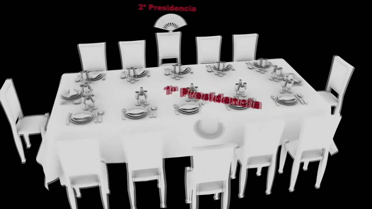 C mo colocar correctamente los invitados en la mesa youtube - Como distribuir un salon ...