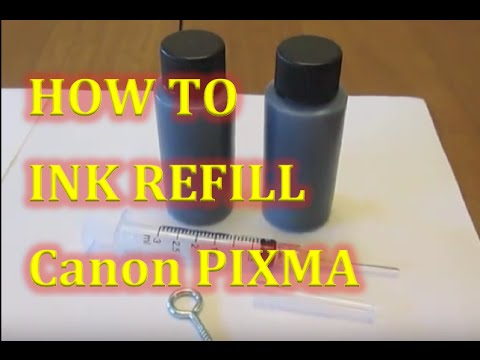 HOW TO REFILL Canon Pixma MG2520 Printer Inkjet Black ink pg 245 ink cartridge
