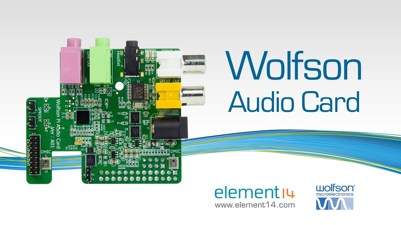 Chris Stanton from element14 demonstrates new Wolfson Audio Card for  Raspberry Pi